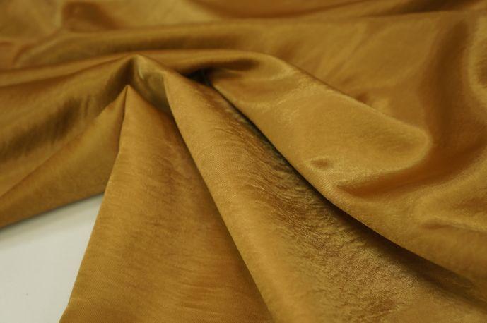 Атлас креш золотисто-коричневый