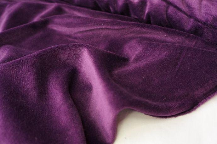 Бархат фиолетовый хлопковый