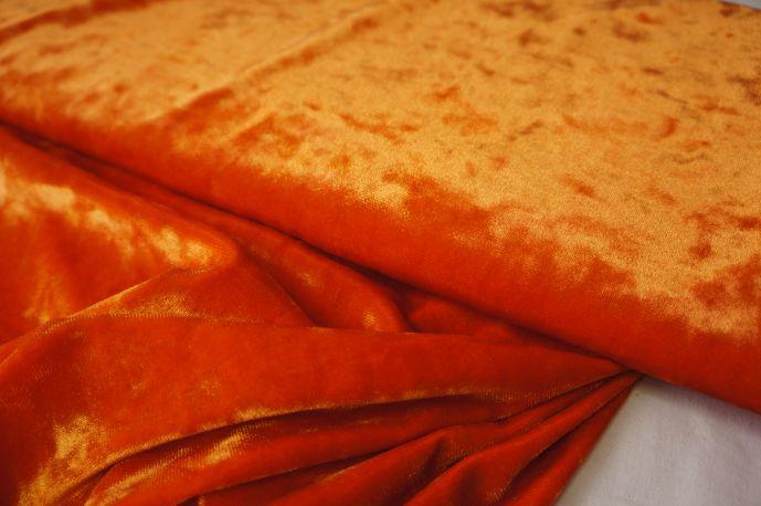 бархат крэш оранжевый