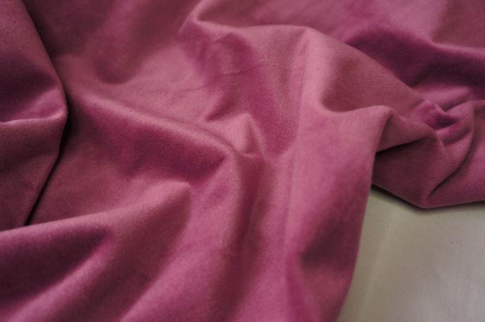 Бархат розовый хлопковый