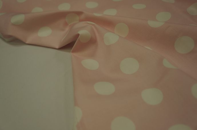 Джинс горох розовый