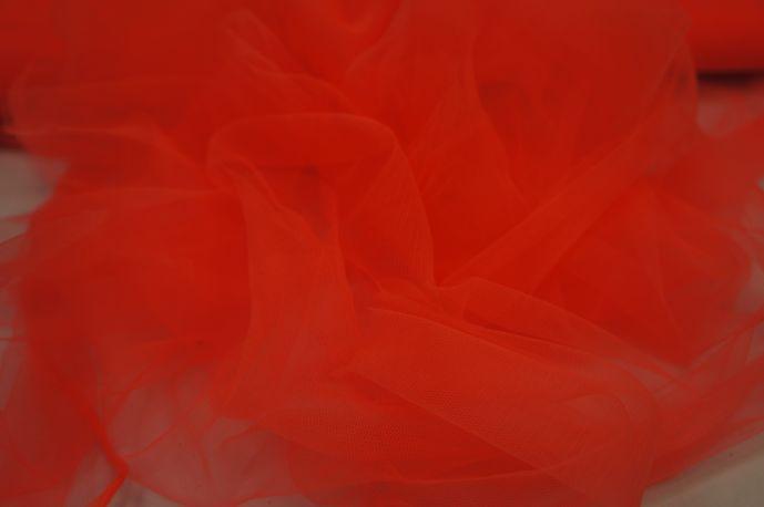 Фатин мягкий оранжевый кислотный