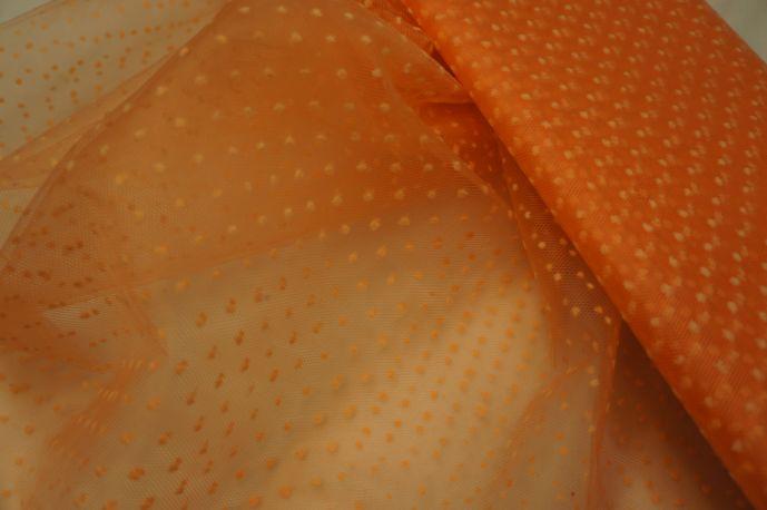Фатин точки на оранжевом фоне белые точки