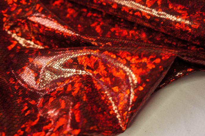 голограмма красный крупная крошка