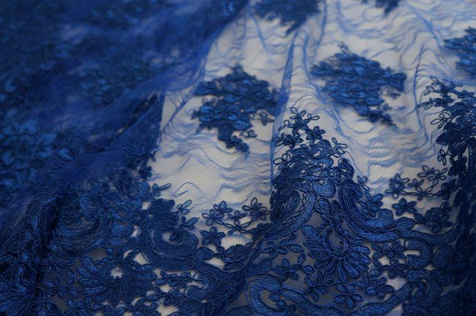 гипюр 129 синий