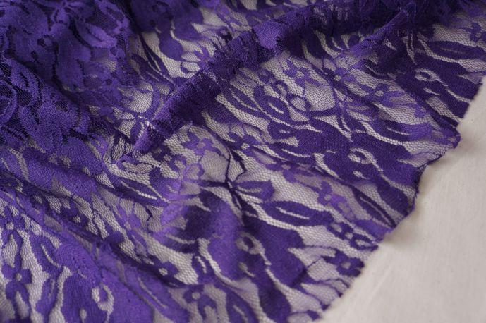 гипюр стрейч фиолетовый тонкий 2