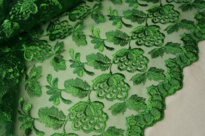 Гипюр зеленый