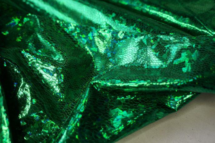 голограмма зеленый крупная крошка