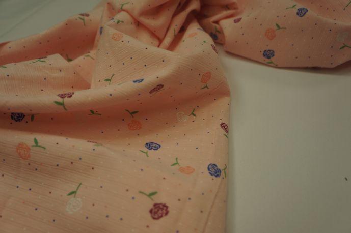 Хлопок цветы персик