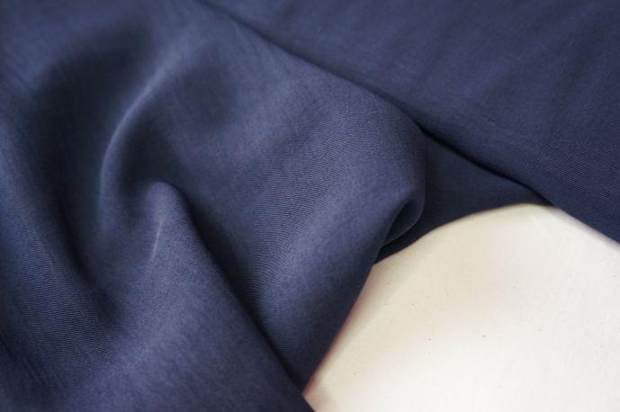 Костюмная с помятым эффектом синий