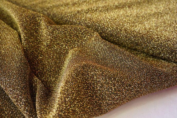 Люрекс тонкий черное золото