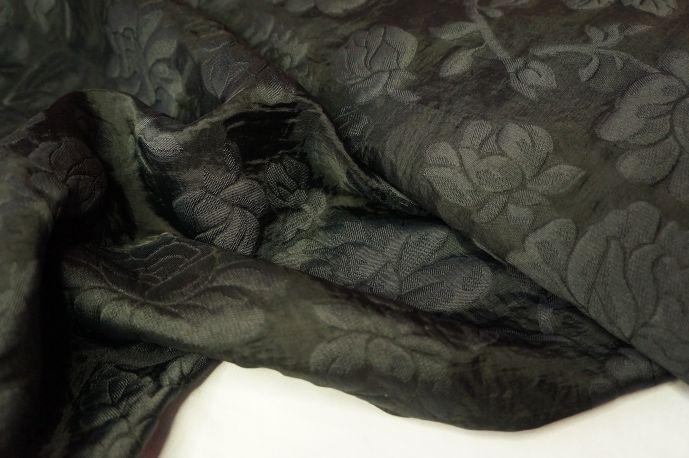 Органза набивная черный