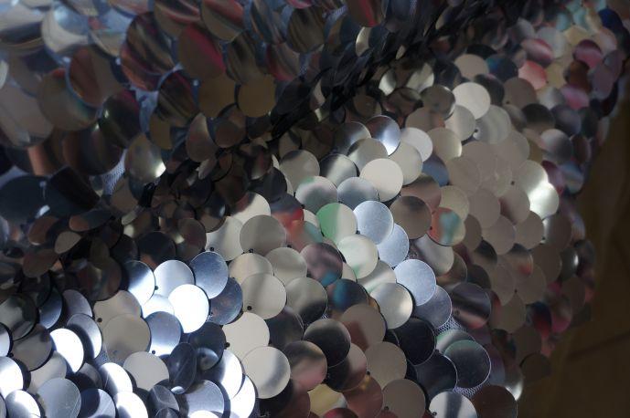 Пайетки крупные серебро