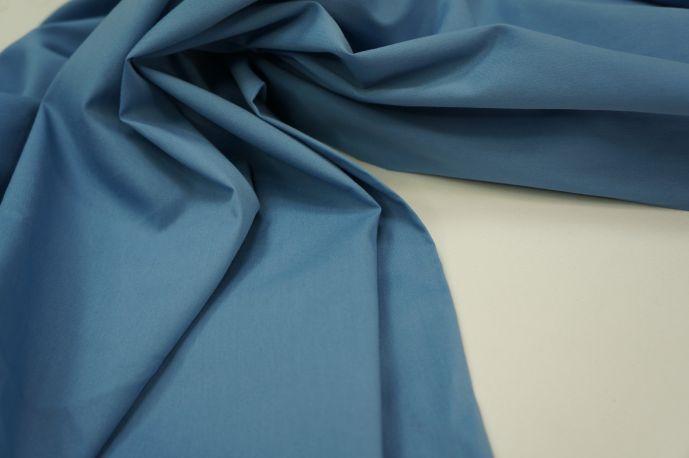 Поплин голубой плотный