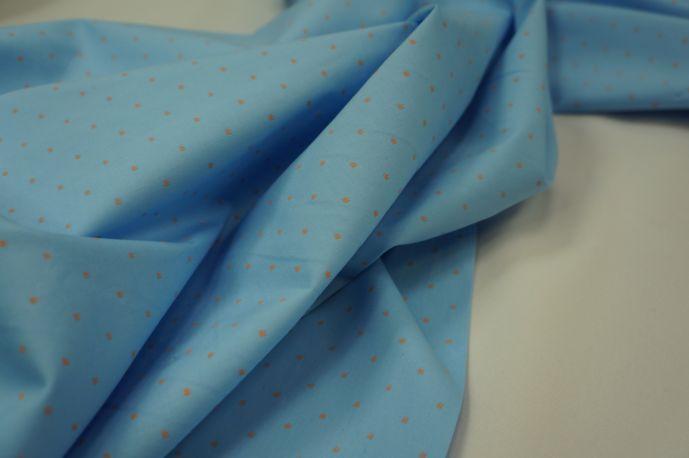 Поплин рубашечный светло голубой