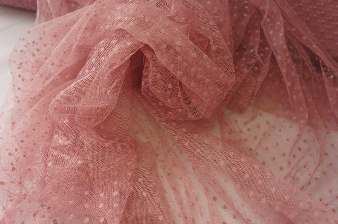 Сетка флок нежно розовый