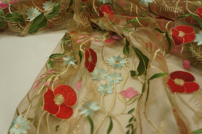 Сетка с вышивкой Глория 2