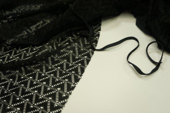 Сетка вязаная черный
