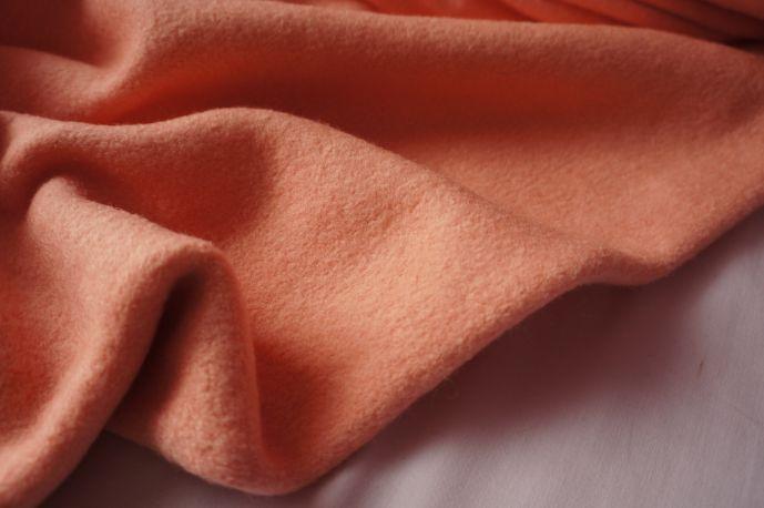 шерсть пальтовая персик 20-5