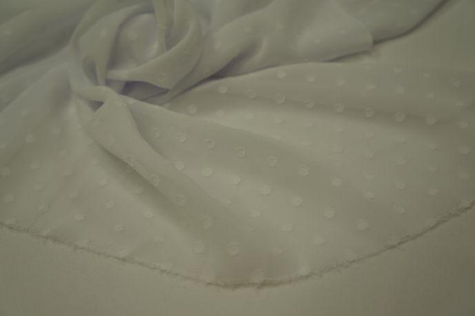 Шифон горох однотонный белый