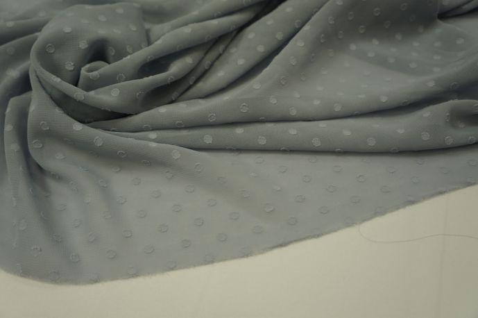 Шифон горох однотонный серый