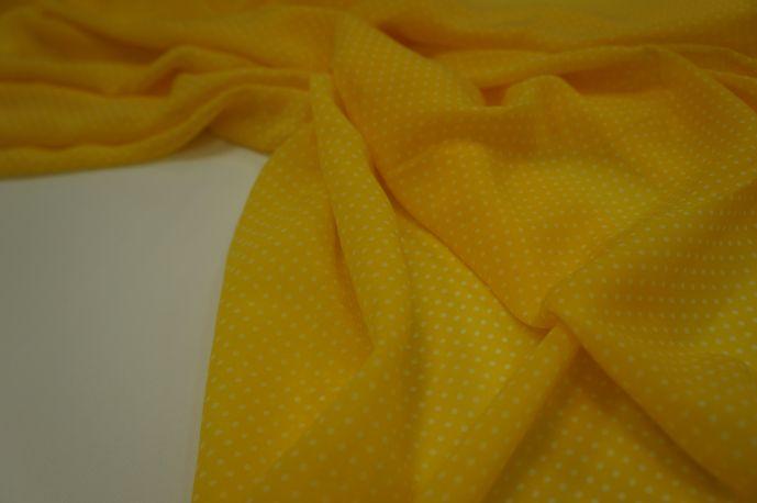 Шифон мелкий горох желтый