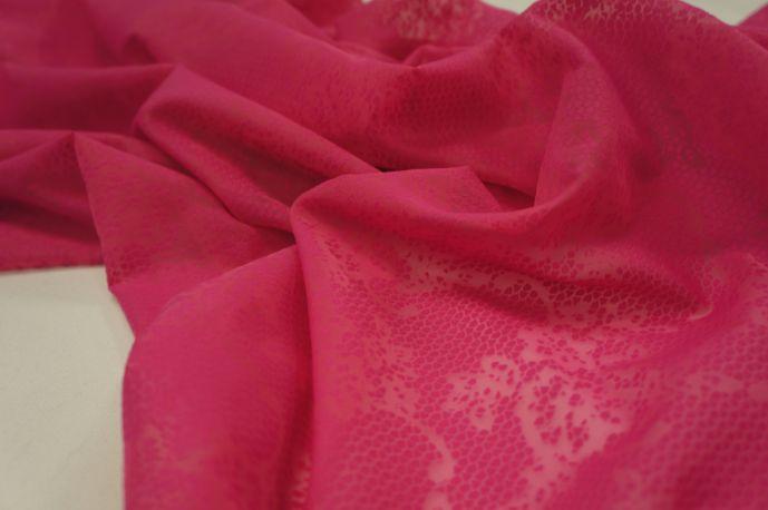 Шифон органза флок розовый