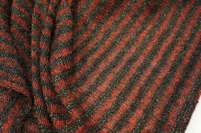 Трикотаж вязанный бордо с люрексом