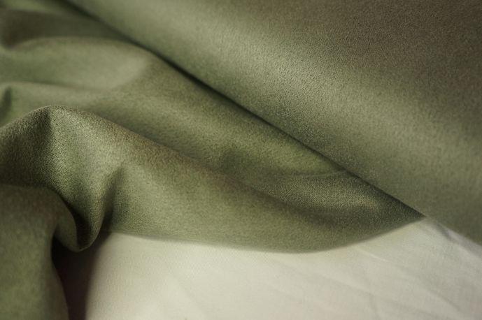 Замша серо-зеленый пыльный