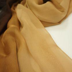 цветной шифон омбре коричневый