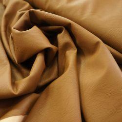 Экокожа с эффектом мятости коричневая