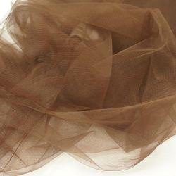 Фатин мягкий коричневый
