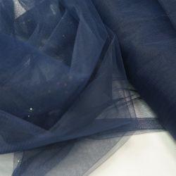 Фатин мягкий синий