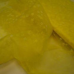 Фатин снежинка желтый