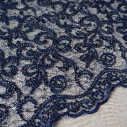 гипюр 164 темно синий