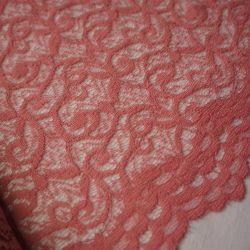 Гипюр кружевной светло-розовый