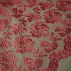 Гипюр розовый