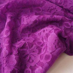 гипюр стрейч фиолетовый тонкий