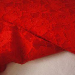 гипюр стрейч красный тонкий