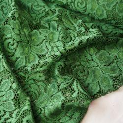 гипюр стрейч зеленый