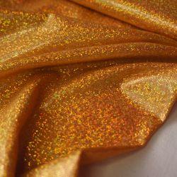 голограмма насыщенный золотой мелкая крошка