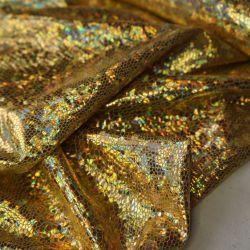 голограмма светло-золотой крупная крошка
