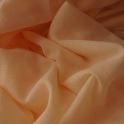 Хлопок с эффектом мятости персиковый