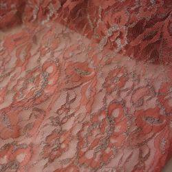 кружево стрейч розовый и серебро