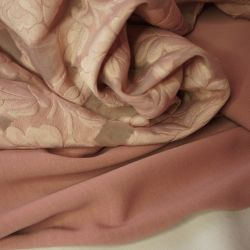 Органза набивная розовый