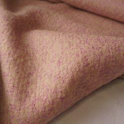 Пальтовая шерсть розовый меланж 20-11