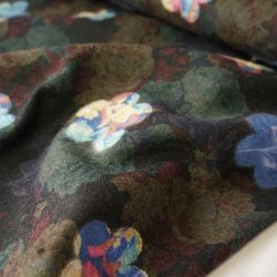 пальтовые ткани темно синий рисунок  7