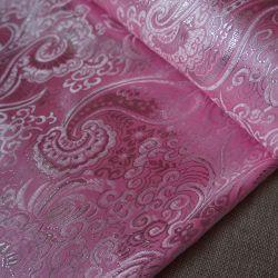 Парча розовый узор