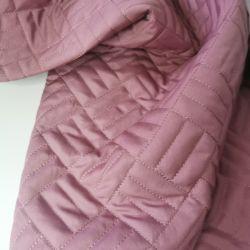 Курточная стеганая на синтепоне розовый