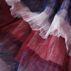 плательная ткань с рюшами из фатина 2